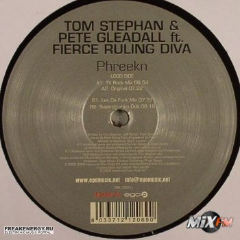 Tom Stephan & Pete Gleadall Vs. Fierce Ruling Diva - Phreekn Promo CDR
