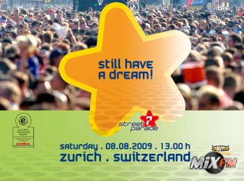 Street Parade в Цюрихе на тему Still Have a Dream