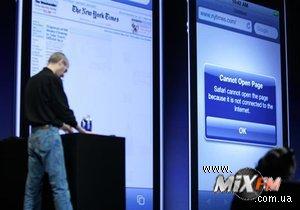 Во время презентации iPhone 4 возникли технические неполадки