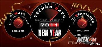 Новогодний Techno Rave @ Forsage 31.12.10 Dj Spartaque, Dj Mays