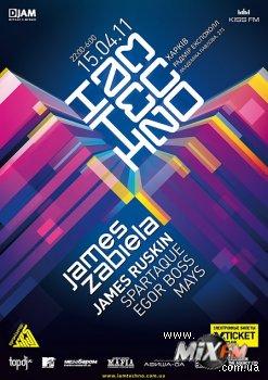 15 апреля James Zabiela впервые выступит в Харькове – на фестивале I AM TECHNO