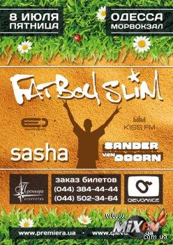 8 июля, Fatboy Slim, Sasha и Sander van Doorn @ Одесса